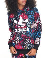 Adidas - FLORAL PRINT TREFOIL HOODY