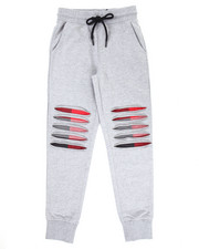 Boys - RIP & TEAR JOGGER W/ PLAID DETAIL (8-20)