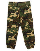 BELTED CAMO CARGO JOGGERS (4-7)
