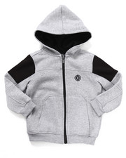 Hoodies - FULL ZIP FLEECE MOTO HOODY (2T-4T)