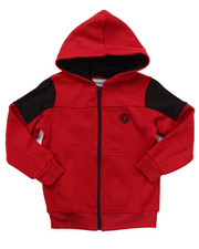 Boys - FULL ZIP FLEECE MOTO HOODY (4-7)