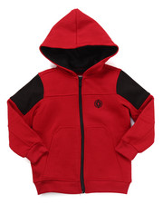 Boys - FULL ZIP FLEECE MOTO HOODY (2T-4T)