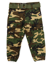 Boys - BELTED CAMO CARGO JOGGERS (2T-4T)