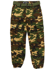 Sizes 8-20 - Big Kids - BELTED CAMO CARGO JOGGERS (8-20)