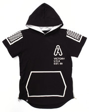 Boys - ELONGATED S/S LEGACY POPOVER HOODY (8-20)
