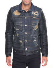Outerwear - Heritage America Distressed Denim Jacket