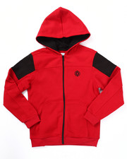 Hoodies - FULL ZIP FLEECE MOTO HOODY (8-20)