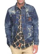 Heritage America Distressed Denim Jacket