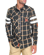 Men - Heritage America Jersey Plaid Button-Down