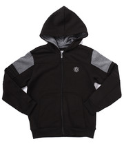 Boys - FULL ZIP FLEECE MOTO HOODY (8-20)