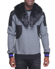 Sweatshirts & Sweaters - Fur - Collared Crewneck Sweater