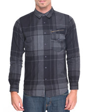 Shirts - Oversized Plaid Shirt w Zip Pocket