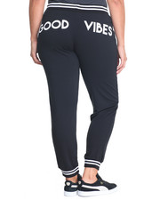 Plus Size - Good Vibes Varsity Active Jogger (Plus)