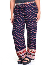 Plus Size - Printed Palazzo Pants (Plus)
