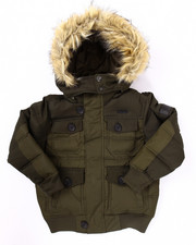 Boys - BUBBLE JACKET W/ FAUX FUR TRIMMED HOOD (8-20)