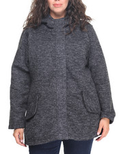 Plus Size - Madden Girl High & Low Sweater Fleece (plus)