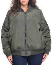 Plus Size - Nylon Bomber Jacket (plus)