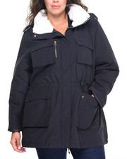Plus Size - Light Weight Cotton Utility Jacket  (PLUS)