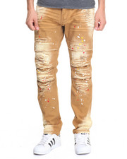 Men - Paint Splatter Rip and Repair Twill Pant