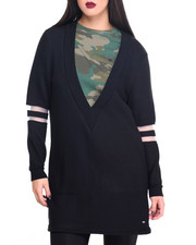 Women - COLLEGE V-NECK SWEATER DRESS