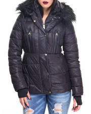 Heavy Coats - Hooded Quilted Puffer Coat
