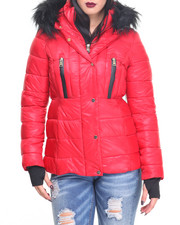 Outerwear - Hooded Quilted Puffer Coat