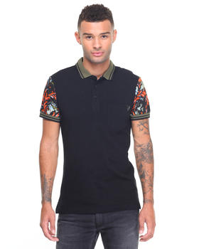 Shirts - Contrast Filligree Polo