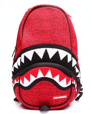 Backpacks - Red Knit Shark Backpack