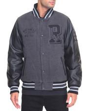 Men - Varsity P U Jacket