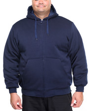 Men - Basic Nylon - Lined Zip - Up Fleece Hoodie (B&T)