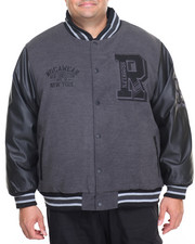 Men - Varsity P U Jacket (B&T)