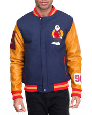 Men - Varsity Panda Wool Jacket