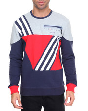Men - Quad Stripe Crewneck Sweatshirt