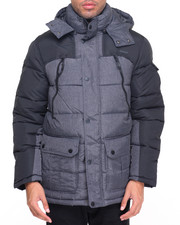Men - Heather Hooded Parka