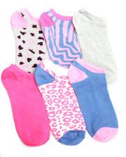 Women - Animal/Geo Print 6Pk Low Cut Socks