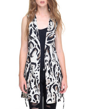 Fashion Lab - Animal Print Tunic Vest