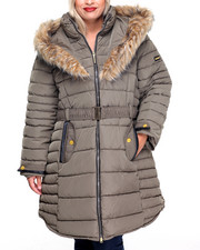 Rocawear - Funnel Neck Faux Fur Puffer (Plus)