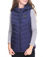 Women - NYC Quilted Hooded Vest