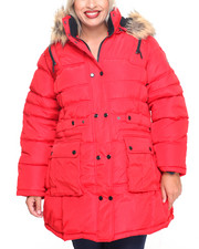Rocawear - Sassy Lady Big Faux Puffer Coat (Plus)