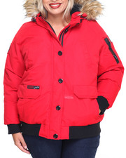 Women - Weather Gear Hooded Bomber CoatWeather Gear Hooded Bomber Coat (Plus)