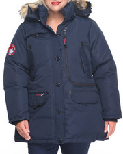 Women - Weather Gear Hooded Parka Coat (Plus)