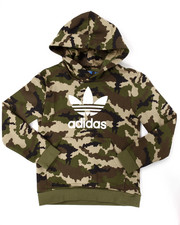 Sizes 8-20 - Big Kids - JUNIOR TREFOIL CAMO HOODY (8-20)