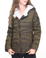 Women - Glacier Shield Quilted Jacket w/Faux Fur