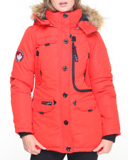 Fashion Lab - Weather Gear Hooded Parka Coat