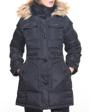 Women - Around The Way Girl Fitted Puffer Coat