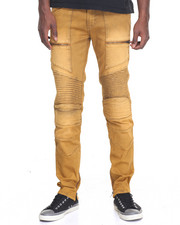 Men - Next Level Coated Moto Denim Jeans
