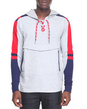 Men - Color Block Pullover Hoodie