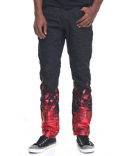 Men - Two Tone Splatter Denim Jeans