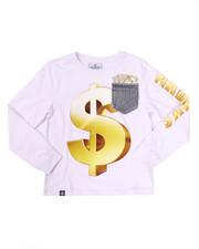 Sizes 8-20 - Big Kids - L/S MO' MONEY POCKET TEE (8-20)