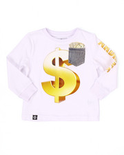 Tops - L/S MO' MONEY POCKET TEE (2T-4T)